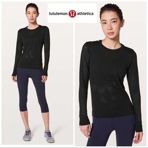 lululemon athletica Tops - Lululemon Breeze by Long Sleeve Squad perforated